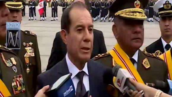 Ministro Walter Martos indicó que el Ejército colabora con la Fiscalía por el caso Los capos del diésel (Captura: Canal N)