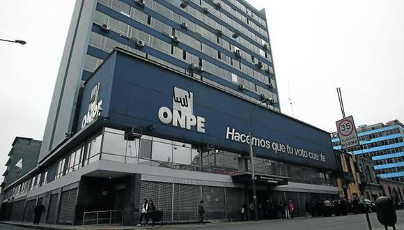 La ONPE es la encargada de supervisar la distribución y el gasto del financiamiento público directo. (Foto: archivo GEC)