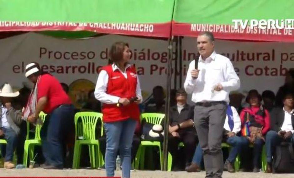 El diálogo en esta jornada que se lleva a cabo en Molinopampa. (Foto: Captura TV Perú)