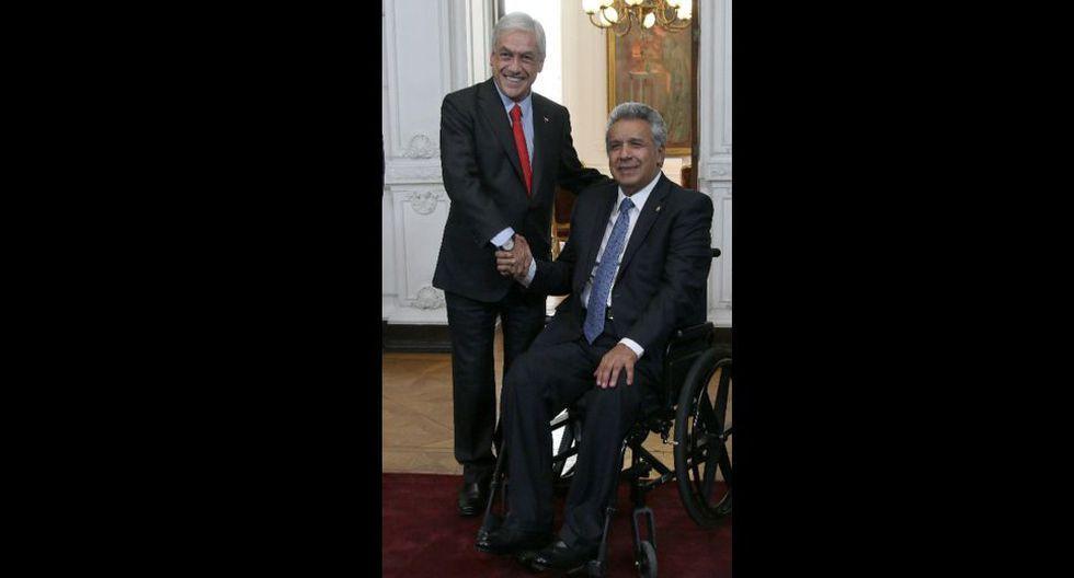 Presidente Lenin Moreno tuvo una reunión previa con Sebastian Piñera.