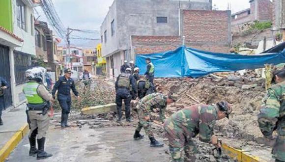 Graves daños. Las viviendas afectadas están ubicadas en los sectores Congata y Cerro Verde. (COER AREQUIPA)