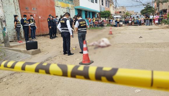 Trujillo: Dos presuntos sicarios asesinaron de seis balazos a un mecánico y la policía investiga una posible venganza. (Foto GEC)