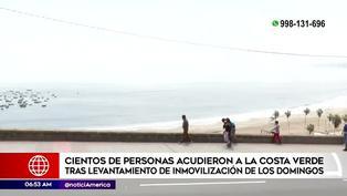 Limeños disfrutan del brillo solar y visitan las playas de la Costa Verde