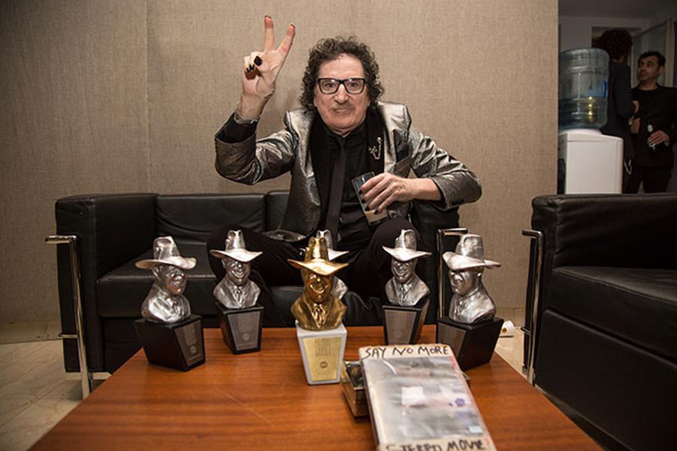El cantautor argentino se robó el show con seis premios Gardel, incluyendo el Gardel de Oro. (Créditos: Facebook de Charly García)