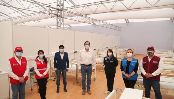 Arequipa: el Hospital Temporal Cerro Juli contará con 200 camas hospitalarias para pacientes COVID-19.