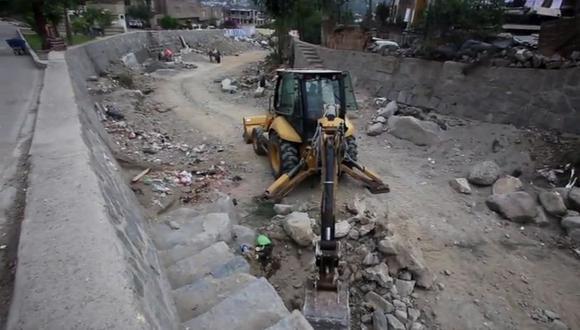 Los trabajos se realizan hace tres semanas en la quebrada Nicolás de Piérola. (Foto: Félix Ingaruca / GEC)