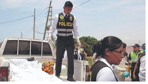 La Libertad. Cadáver de empresaria fue hallado por unos moradores en matorrales en el distrito de Laredo. (GEC)