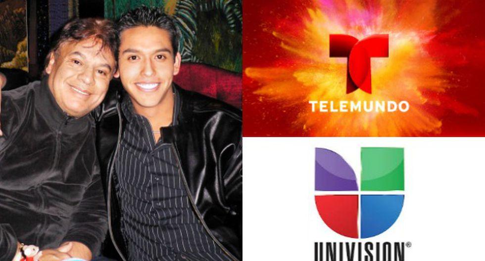 Iván Aguilera, único heredero de Juan Gabriel ha demandado a Telemundo y Univisión por difamación (Composición)