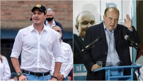 Los candidatos George Forsyth y Rafael López Aliaga expresan que el JEE no actuó con objetividad en sus casos (GEC).
