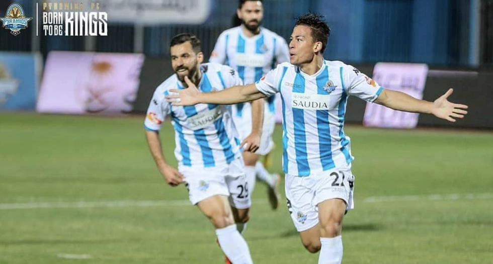 Cristian Benavente anotó un doblete en la victoria del Pyramids FC en Egipto. (Instagram  Pyramids FC)