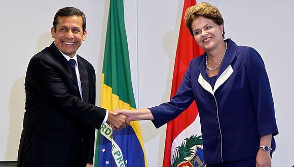 En junio pasado, Humala viajó a Brasil para reunirse con Rousseff. (Presidencia de la República de Brasil)