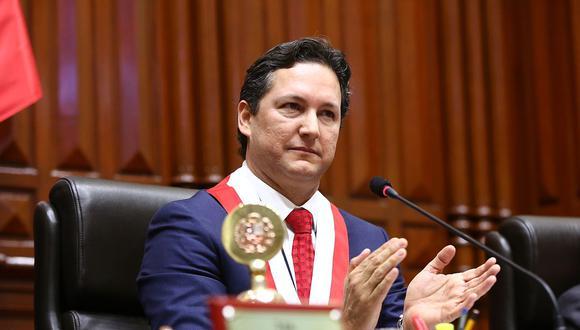 El presidente del Congreso, Daniel Salaverry, convocó a junta de portavoces al inicio de la sesión plenaria de hoy. (Foto: Congreso de la República)