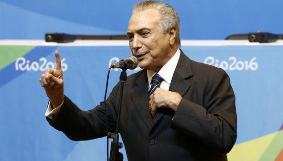 Optimista. Presidente interino Michel Temer otorgó detalles sobre la recuperación económica. (EFE)