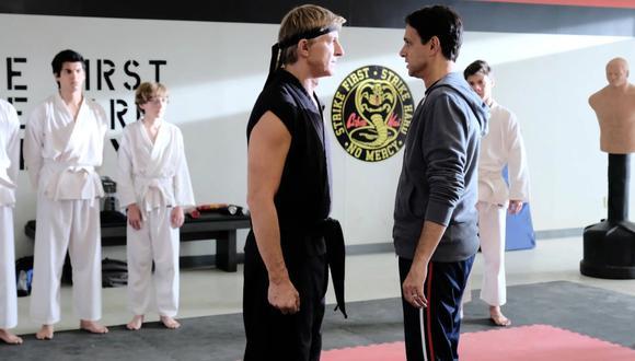 """Cobra Kai"" esta protagonizada por William Zapka y Ralph Macchio. (Foto: Netflix)"
