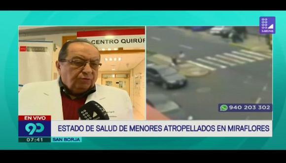 El médico indicó que el menor de tres años también presenta daños en el dorso del pie.(Foto: Captura de 'Latina')