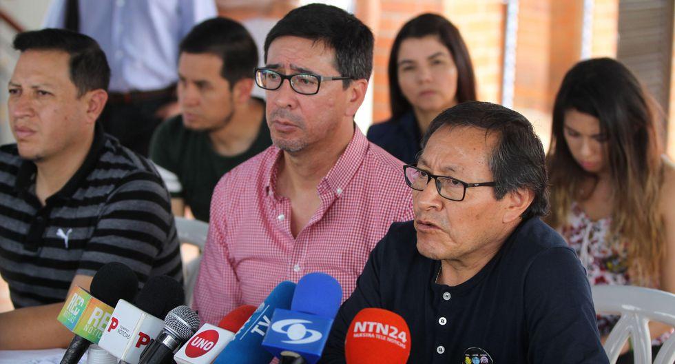 Familiares de los hombres de prensa asesinados en Colombia exigen a las autoridades de se país respuestas sobre lo ocurrido. (EFE)