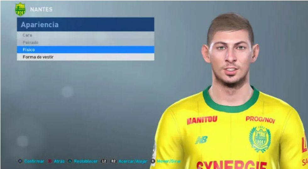 """El nuevo rostro de Sala en la última actualización del """"PES"""" de Konami, la competencia de """"FIFA 19""""."""