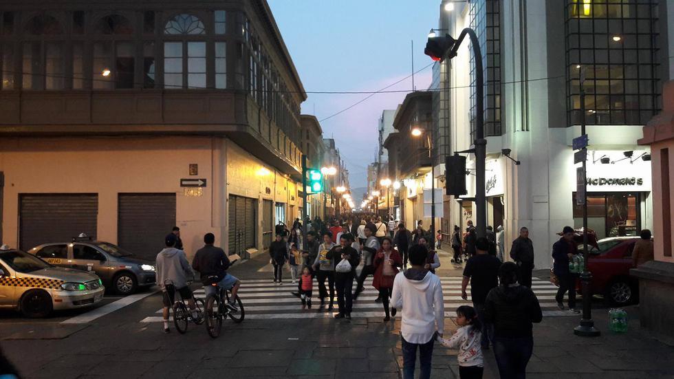 El escenario en el Cercado de Lima es el de un domingo cualquiera tras culminar el Censo 2017. (Daniel García)