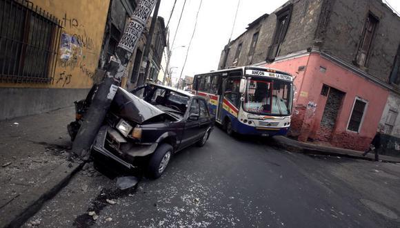 Los accidentes de tránsito son usuales en el país. (El Comercio)