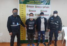 Policía y serenazgo capturan a 'raqueteros' armados tras asaltar a pareja de esposos en Comas