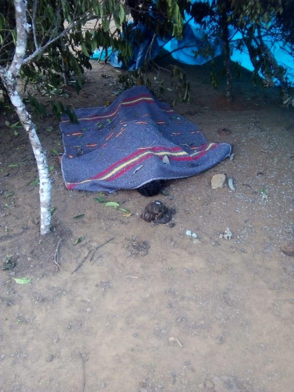 El cuerpo de Teófanes Camargo quedó a la vista de todo el pueblo por cinco días.