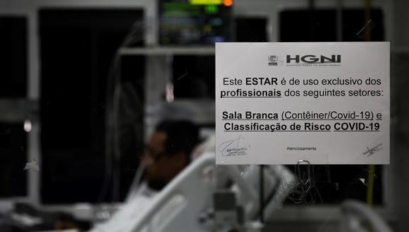La pandemia se mantiene en Brasil con grandes limitaciones en la disponibilidad de las Unidades de Cuidado Intensivo (UCI) y con un lento ritmo en el proceso de vacunación. (Foto: EFE/ Antonio Lacerda)