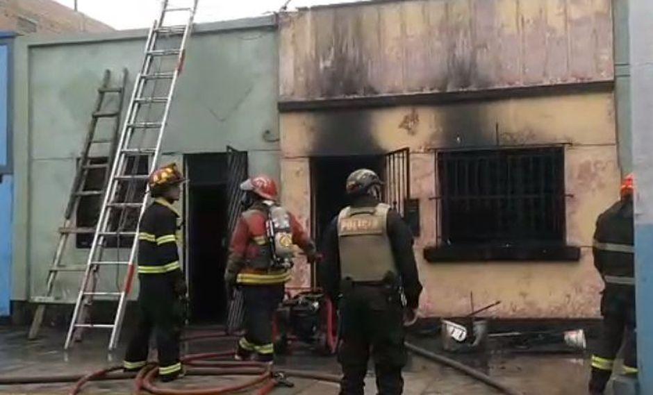El incendio fue reportado a las 07:58 a.m. según el portal del Cuerpo General de Bomberos Voluntarios del Perú (CGBVP) (Foto: Captura de 'Prensa Callao Tv')