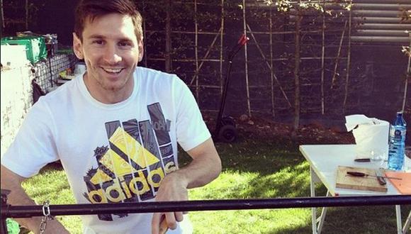 Lionel Messi hizo de las suyas en la cocina. (Instagram)