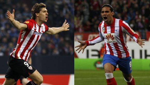 TITANES. Llorente y Falcao tendrán un duelo aparte. (Reuters)