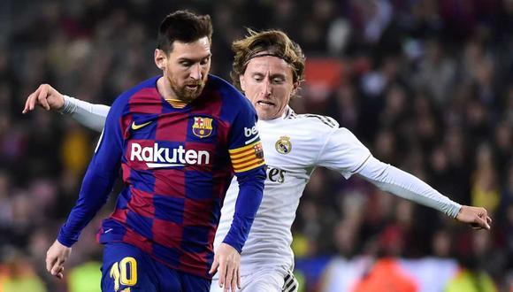 Luka Modric valoró la posible partida de Lionel Messi de LaLiga. (Foto: AFP)