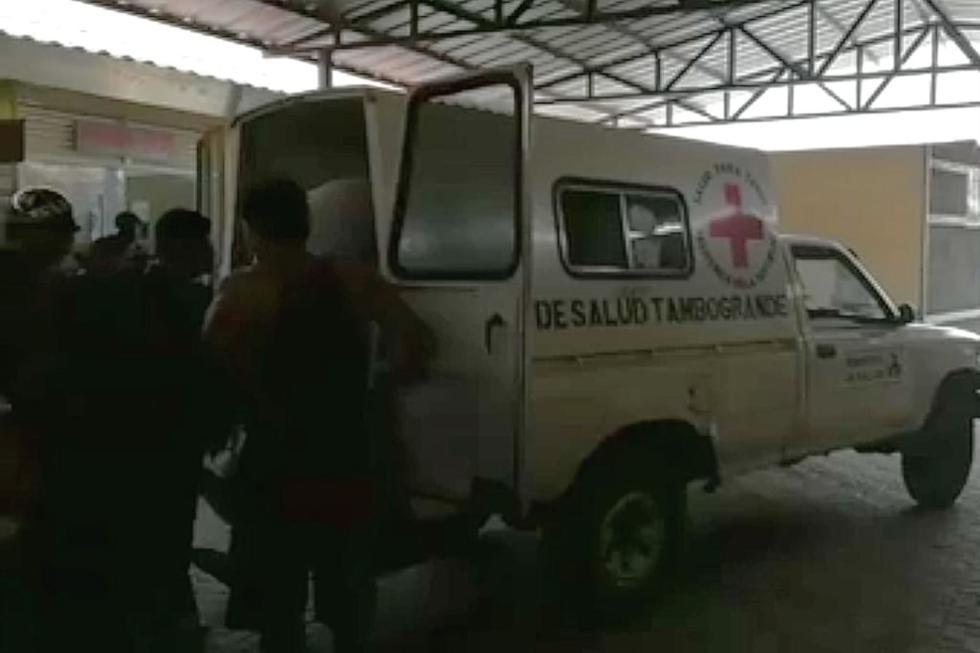 Los heridos del accidente en Tambogrande fueron trasladados al centro de salud de esta localidad piurana.