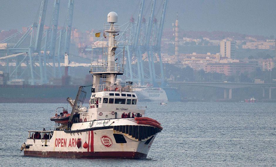 Italia agradece a España por encontrar una solución al barco Open Arms, aunque también les pidió cerrar esta ONG. (Foto: AFP)