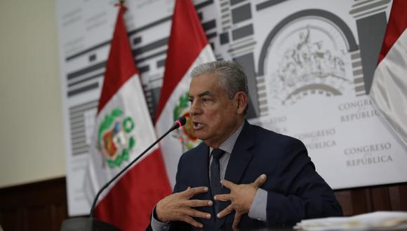 Expremier César Villanueva dio sus descargos sobre imputaciones de recepción de pagos de Odebrecht. (Foto: GEC/ Anthony Niño De Guzmán).