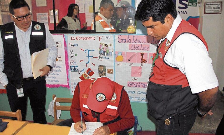 En febrero volverán las inspecciones en colegios.