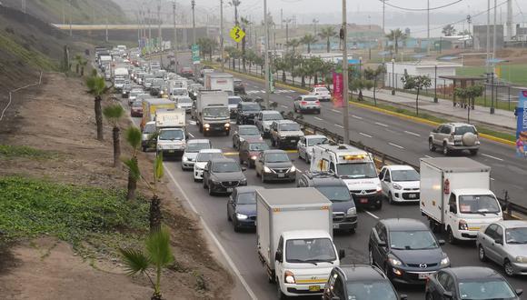 El cierre de la Costa Verde ha originado gran congestión vehicular. (Imagen referencial/Anthony Niño De Guzmán/GEC)