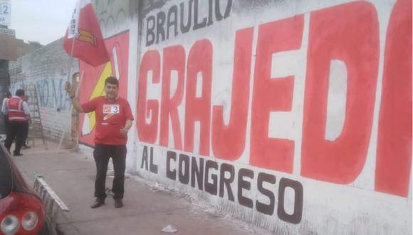 Braulio Grajeda, excandidato al Congreso de Perú Libre. (Facebook: Braulio Grajeda)