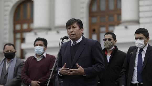 Waldemar Cerrón, hermano de Vladimir Cerrón, cuestionó allanamiento a Perú Libre. (Foto: GEC)