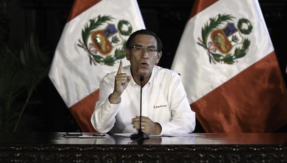 El presidente Martín Vizcarra anunció la ampliación de la cuarentena por 13 días. (Foto: GEC)