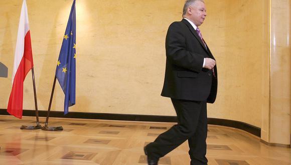 Jaroslaw Kaczynski, presidente del partido conservador que gobierna en Polonia. (Foto: EFE)