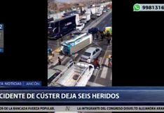 Santa Rosa: Volcadura de cúster dejó seis heridos en la Panamericana Norte [VIDEO]