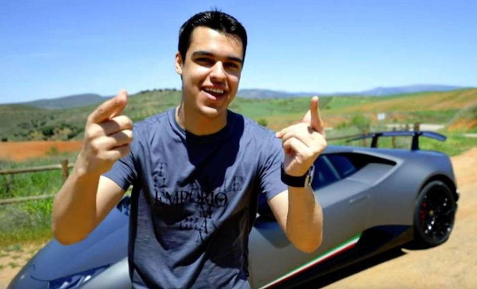 Detienen a famoso youtuber español David Díaz, más conocido como Alphasniper97, por conducir un deportivo Lamborghini a 228 km/h. (Foto: AlphaSniper97/Youtube)