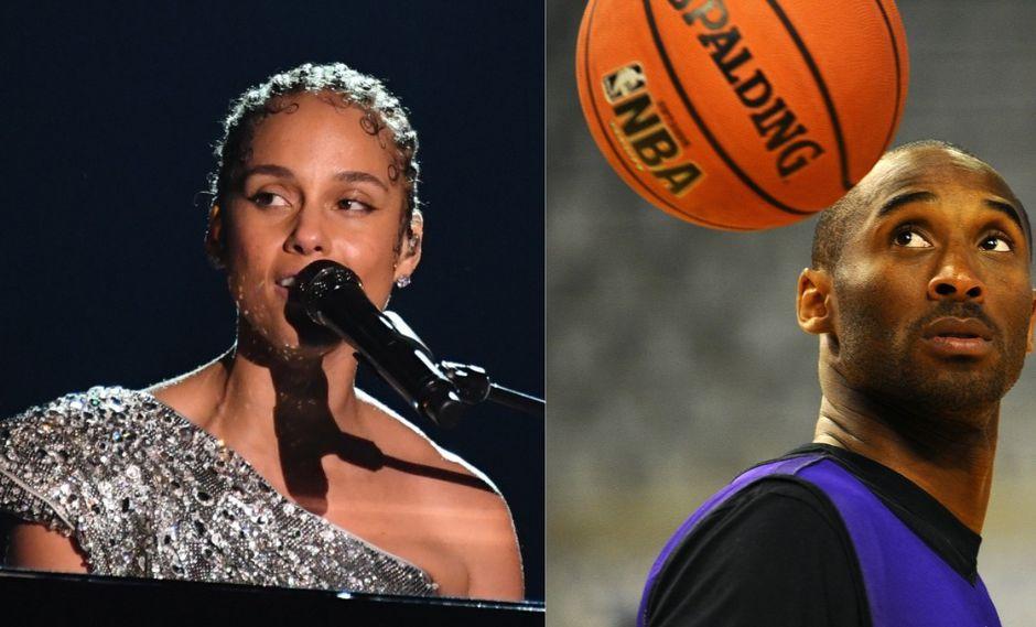 Alicia Keys rinde emotivo homenaje a Kobe Bryan en la reciente edición de los Grammy 2020. (Foto: AFP)