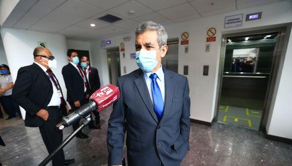 Tomás Gálvez fue recientemente denunciado constitucionalmente por la fiscal de la Nación, Zoraida Ávalos, por sus presuntos vínculos con Los Cuellos Blancos del Puerto. (GEC)