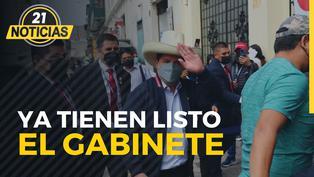 Aseguran que Castillo ya tiene gabinete