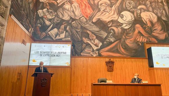 El peruano se presentó en la IV Bienal Vargas Llosa de la Universidad de Guadalajara. (Foto:  Fundación Internacional para la Libertad)