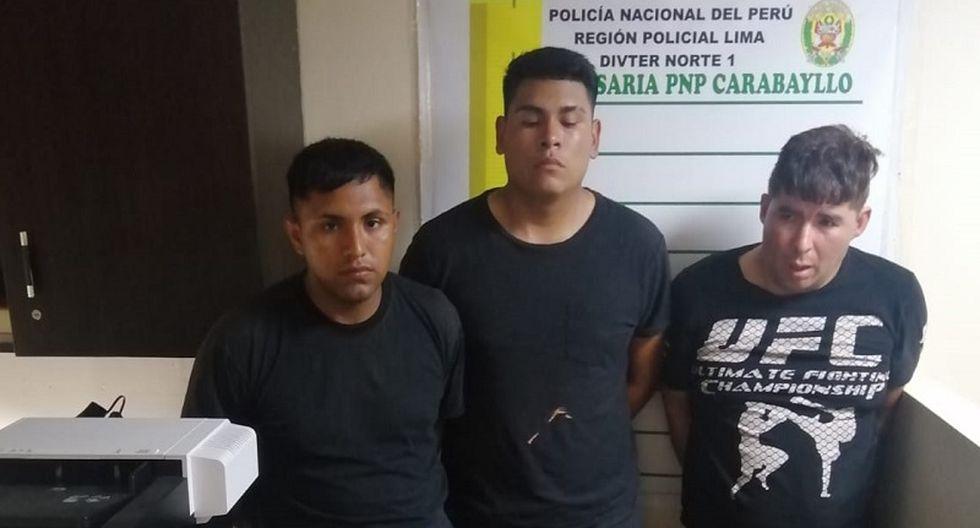 Capturan a tres delincuentes que serían serenos de Los Olivos. (Foto: César Bueno)