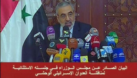 Ministro de Información, Omran al Zohbi, habló de una posible guerra. (AFP)