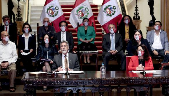 El presidente Francisco Sagasti brindó una conferencia de prensa este miércoles para dar anuncios en su gestión. (Foto: Presidencia)