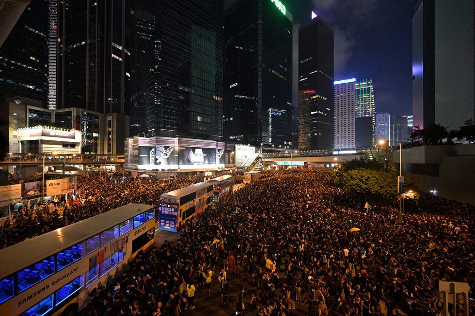Masivas manifestaciones se han producido durante la última semana en Hong Kong. (Foto: AFP)