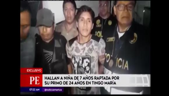 Hallan a menor secuestrada por su primo. (Foto: Captura de video / América Noticias)